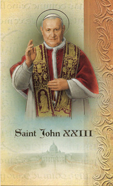 Pope St. John XXIII Biography Card