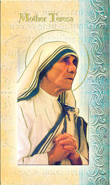 Mother Teresa of Calcutta Biography Card