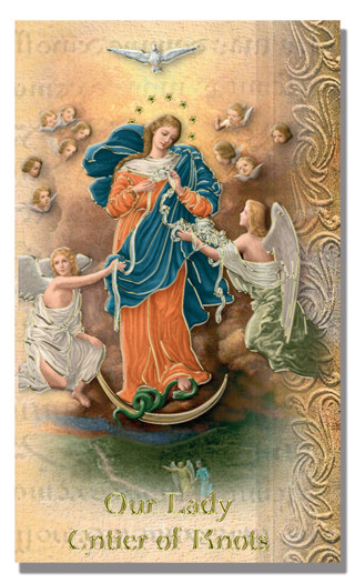Our Lady Untier of Knots Biography Card