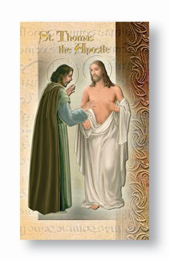 St. Thomas the Apostle Biography Card