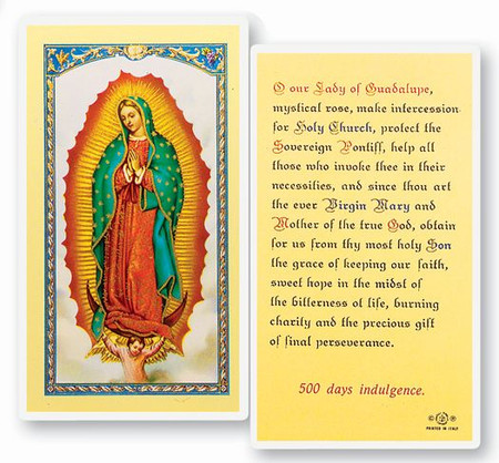 Our Lady of Guadalupe Laminated Holy Card (E24-216)