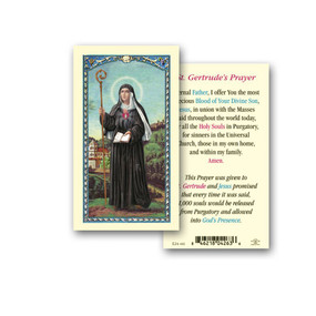 Saint Gertrude Holy Card (E24-441)