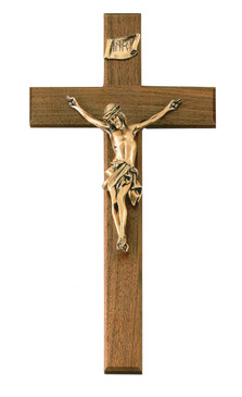 "15"" Walnut Crucifix"