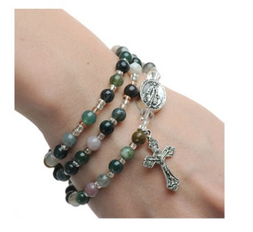 India Agate Twistable Rosary Bracelet