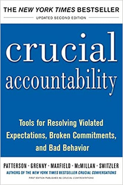 Crucial accountability- Tools for resolving Violated Expectations, Broken Commitments and Bad Behavior
