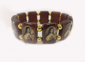 St. Therese Wood Stretch Bracelet