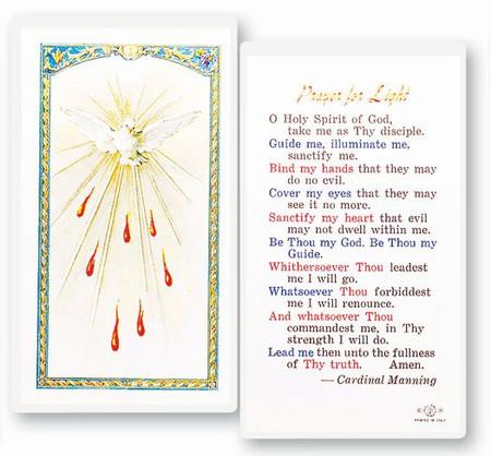 Prayer for Light Holy Card