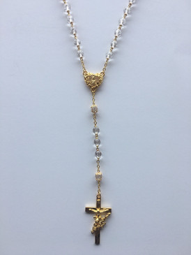 Crystal and Gold Rosary