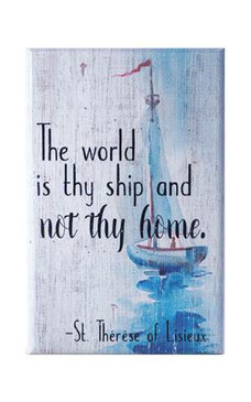 "Wood Pallet with St. Therese Quote ""The World"" 5.25"" X 3.5"""