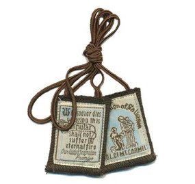 "Wool Cloth Scapular 18"" Brown"