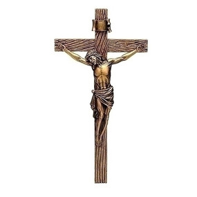 ANTIQUE GOLD CRUCIFIX 13.25