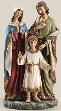 "Holy Family with Child Statue (9.75"")"