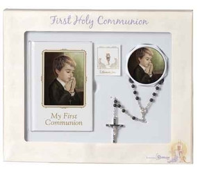 Boy's 5-Piece First Holy Communion Deluxe Book & Accessory Set