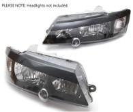 TLG Holden VY-VZ Commodore Headlight Eyelids - Gloss Black