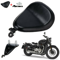 TLG Harley/Metric Solo Seat with Mounting Kit - Plain Black