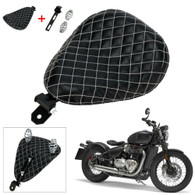TLG Harley/Metric Solo Seat with Mounting Kit - Diamond Black