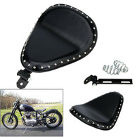 TLG Harley/Metric Solo Seat with Mounting Kit - Studded Black