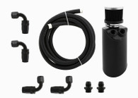 TLG 1.2L Catch Can / Breather Tank kit suit BA-FGX Falcon & Territory - with Fittings/Hose - BLACK