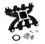 HOLLEY GM LS1/LS2/LS6 Mid-Rise Single Plane Carb Intake - BLACK
