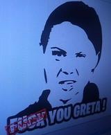 "TLG ""F*ck You Greta"" Greta Thunberg sticker"