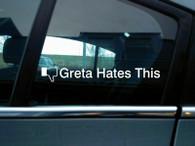 """TLG FB style """"Greta Hates This"""" Greta Thunberg sticker - 200mm"""