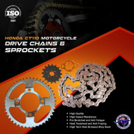 TLG Honda CT110 Chain Sprocket Kit – All Models - STD 15T