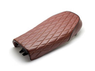 TLG Diamond Stitch SCRAMBLER Seat - BROWN