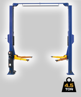 TLG 2 Post Hoist – 4.5 Ton – Clear Floor Model with Outriggers