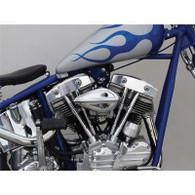 PAUGHCO Ribbed Teardrop Air Cleaner - Suit Keihin CV/Delphi EFI
