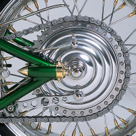 KUSTOMTECH Hydraulic Brake drum with Chrome fins - REAR
