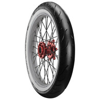 "AVON 23"" Whitewall Front Tyre - Cobra Chrome AV91 - 130/60 Profile"