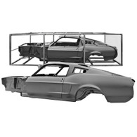 DYNACORN Complete Body Shell - Ford Mustang Fastback 1968
