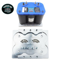 TLG Billet Battery Relocation Tray / Hold Down Mount suit Optima 34/78