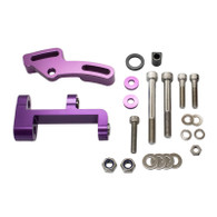 EFI LS1 Style 140a Alternator Upgrade Kit to fit RWD Nissan SR20 - Bracketry Only PURPLE