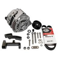 EFI LS1 Style 140a Alternator Upgrade Kit to fit RWD Nissan SR20 - Full kit BLACK