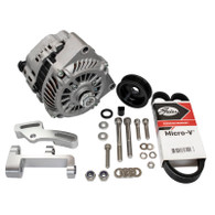EFI LS1 Style 140a Alternator Upgrade Kit to fit RWD Nissan SR20 - Full kit SILVER