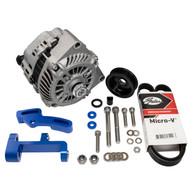 EFI LS1 Style 140a Alternator Upgrade Kit to fit RWD Nissan SR20 - Full kit BLUE