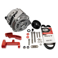 EFI LS1 Style 140a Alternator Upgrade Kit to fit RWD Nissan SR20 - Full kit RED