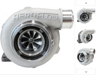 AEROFLOW BOOSTED 5455 .82 Turbocharger 340-650HP Rating - Natural Cast Finish