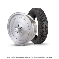 "STREET PRO Auto Drag Wheel & Tyre Package - 2x M/T SR Radial up to 195 with 15x4 2"" BS Wheel - GM"