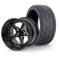 """STREET PRO II Wheel & Tyre Package - 2x M/T SS Radial up to 295 with 15x8.5 3.5"""" BS Wheel - GM"""