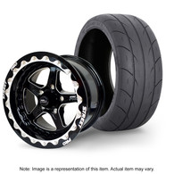 """STREET PRO II Wheel & Tyre Package - 2x M/T SR Radial up to 295 with 15x8.5 3.5"""" BS BEADLOCK Wheel - FORD"""