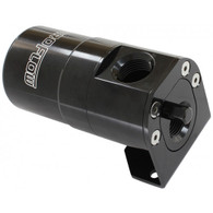 AEROFLOW Billet Universal Single Air / Oil Separator - BLACK
