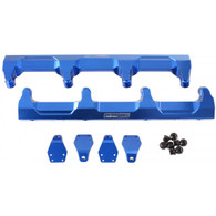 AEROFLOW Billet EFI Fuel Rails - Suit GM LSA Supercharged - BLUE