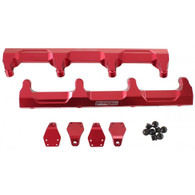 AEROFLOW Billet EFI Fuel Rails - Suit GM LSA Supercharged - RED