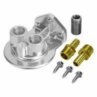DERALE Standard Remote Filter Mount Kit 1/2in NPT inlet / outlet # DER-15728