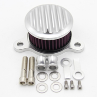 TLG Ribbed Air Cleaner Kit for Harley Sportster XL 2004-2020 / 883 & 1200cc - SILVER