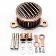 TLG Ribbed Air Cleaner Kit for Harley Sportster XL 2004-2020 / 883 & 1200cc - BRONZE