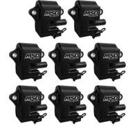 MSD Spark Plug Coil Kit for GM LS1/LS6 - BLACK