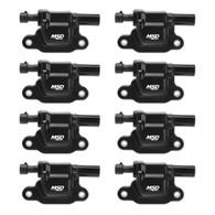 MSD Spark Plug Coil Kit for GM LS2/LS3 - BLACK